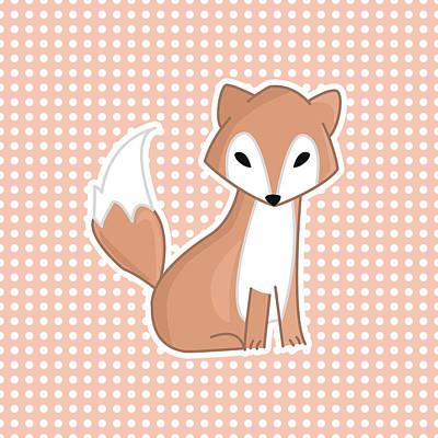 Fox Digital Art - Red Fox Polka Dots by Pati Photography