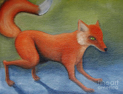 Painting - Red Fox by Reb Frost