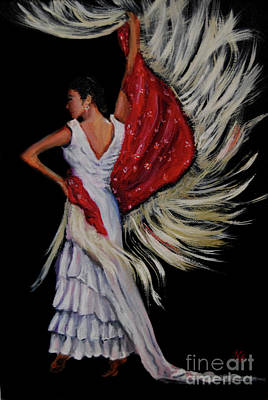 Painting - Red Fringed Scarf by Nancy Bradley