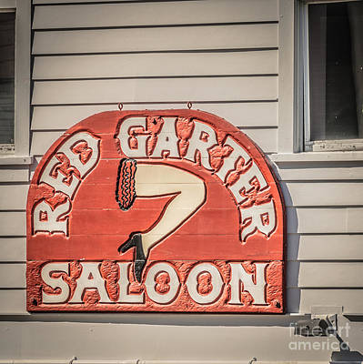 Red Garter Key West - Square - Hdr Style Art Print