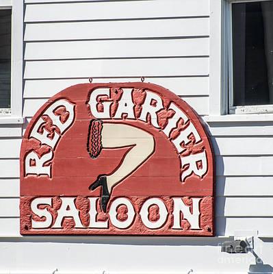 Red Garter Key West - Square Art Print