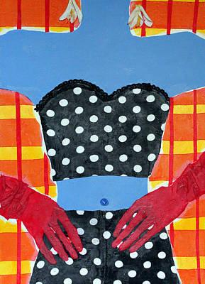 Red Gloves Art Print by Diane Fine