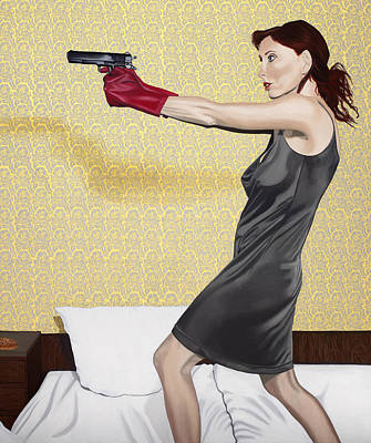 Golden Glove Painting - Red Gloves by Marcella Lassen
