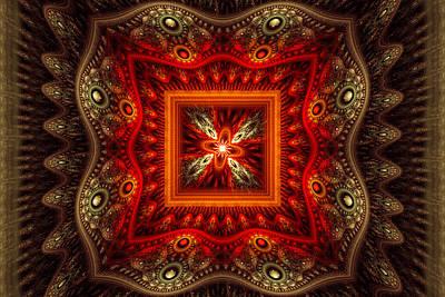 Digital Art - Red Glow by Sandy Keeton