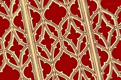 Photograph -  Gothic Pattern On Red by Chris Berry
