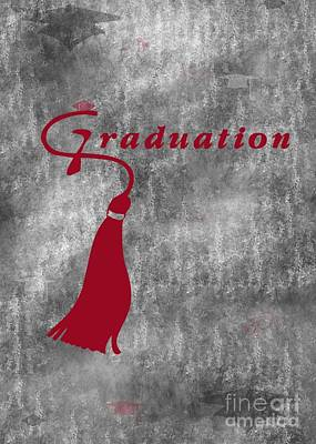Digital Art - Red Graduation by JH Designs