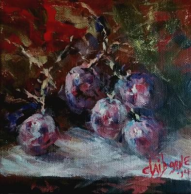 Red Grapes Original by Claiborne Hemphill-Trinklein