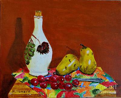 Art Print featuring the painting Red Grapes by Melvin Turner