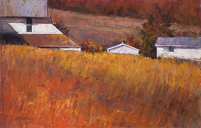 Pastel - Red Grass by Beverly Amundson