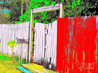 Red Grey Gate 0552 14 Art Print by Nina Kaye