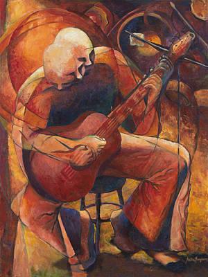 Red Guitar Original by Anika Ferguson