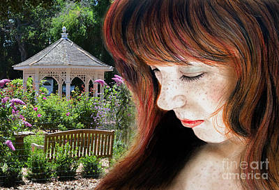 Photograph - Red Hair And Freckled Beauty II Altered Version by Jim Fitzpatrick