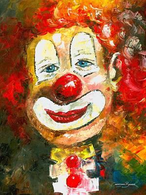 Painting - Red Hair Clown by Christiaan Bekker