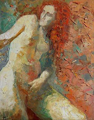 Nud Painting - Red Hair by Magda Urse