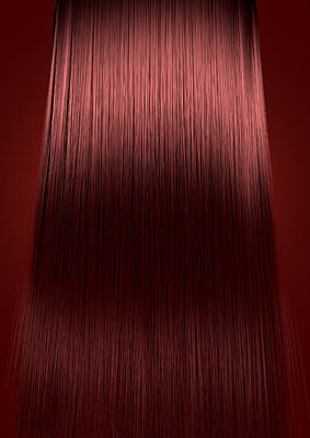 Hairstyle Digital Art - Red Hair Perfect Straight by Allan Swart