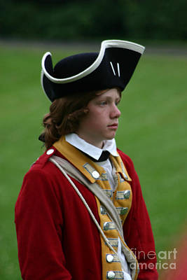 Revolutionary Wars Re-enactment Photograph - Red Haired Lad by Victoria  Dauphinee