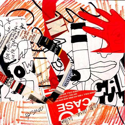 Red Hand  Art Print
