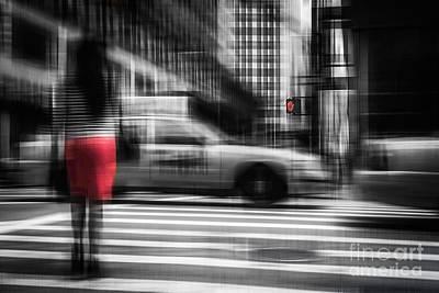 RED Art Print by Hannes Cmarits