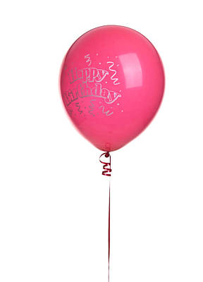 Photograph - Red Happy Birthday Ballon by Marek Poplawski