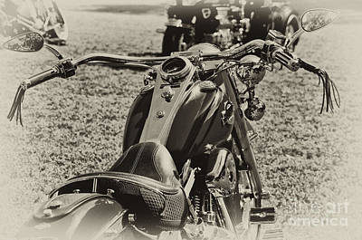 Photograph - Red Harley Davidson by Wilma  Birdwell