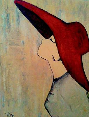 Painting - Red Hat by Mirko