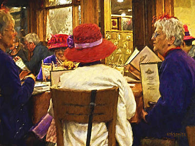 Photograph - Red Hat Society Ladies Luncheon Purple by Rebecca Korpita