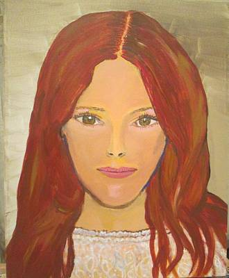 Painting - Red Head Glory by Jennylynd James