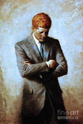 Photograph - Red Head In The White House - John Fitzgerald Kennedy Jfk 20130610 by Wingsdomain Art and Photography