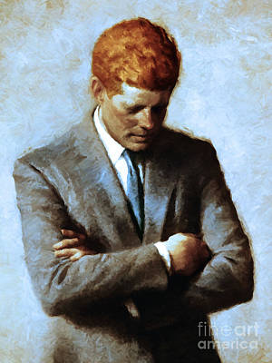 Photograph - Red Head In The White House - John Fitzgerald Kennedy Jfk 20130610v2 by Wingsdomain Art and Photography