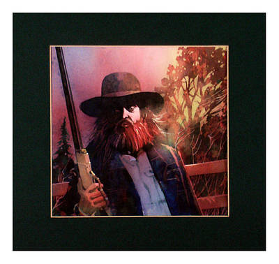 Painting - Red Headed Stranger by David  Chapple