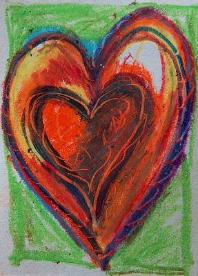 Pastel - Red Heart - Green Love by Racquel Morgan