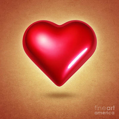 Red Heart Art Print