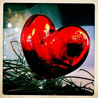 Red Wall Art - Photograph - Red Heart by Matthias Hauser