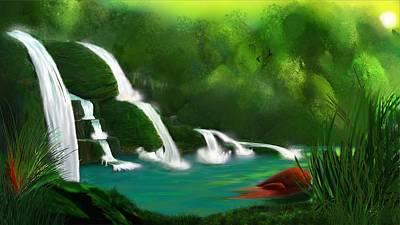 Red Heart Rising Art Print