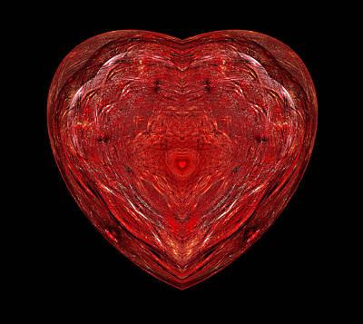 Digital Art - Red Heart by Sandy Keeton