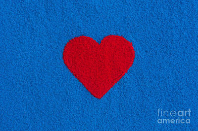 Heartfelt Photograph - Red Heart by Tim Gainey