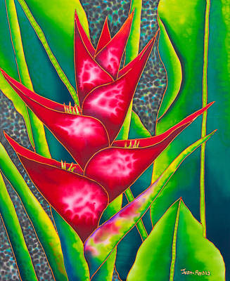 Red Heliconia Art Print by Daniel Jean-Baptiste