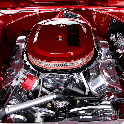 Photograph - Red Hemi Sq by Chris Thomas