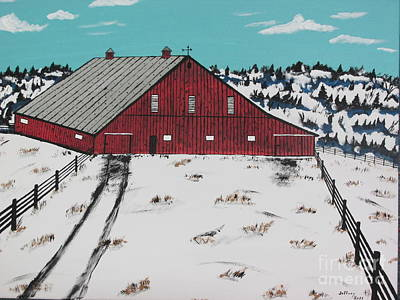 Red Hemloc Farm Original by Jeffrey Koss