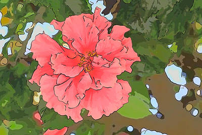 Photograph - Red Hibiscus by Alice Gipson