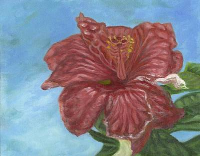 Painting - Red Hibiscus by Michael Allen Wolfe
