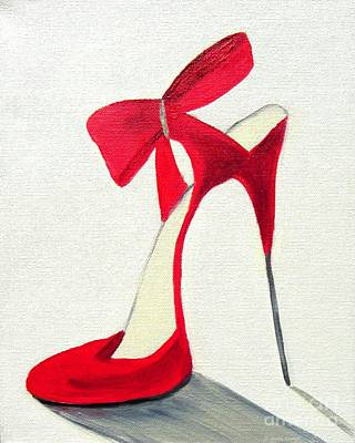 Painting - Red High Heel Shoe by Shelia Kempf
