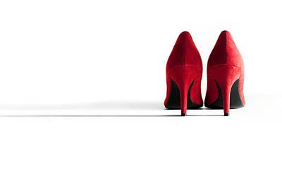 Red High Heel Shoes Art Print by Natalie Kinnear