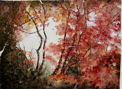 Painting - Red Hollow by MArilyn McMeen Brown