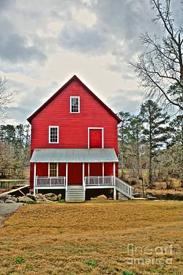 Photograph - Red Home On Pond by Kim Wilson