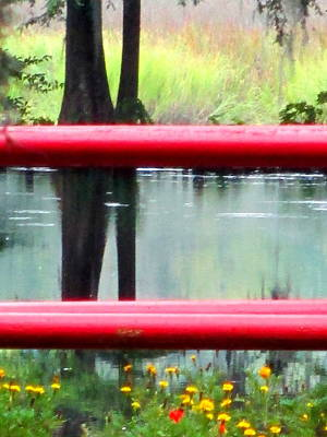 Photograph - Red Horizontals Black Verticals by Randall Weidner