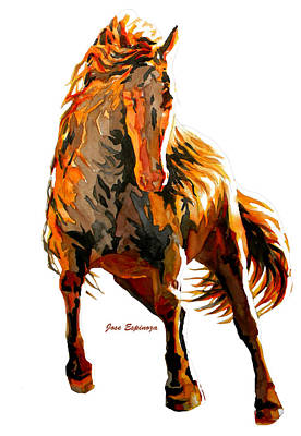 Dynamic Drawing - Red Horse  by J- J- Espinoza