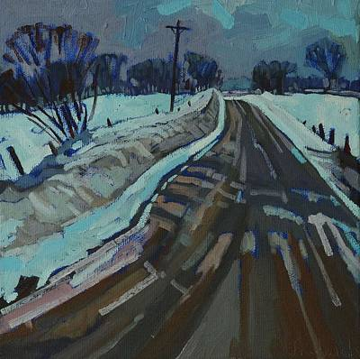 Art Appreciation Painting - Red Horse Road by Phil Chadwick