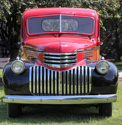 Photograph - Red Hot 1946 Chevy  by E Faithe Lester