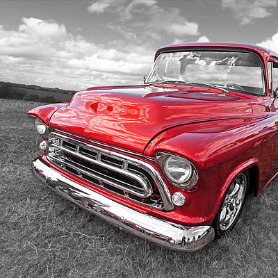 Red Hot '57 Chevy Square Art Print